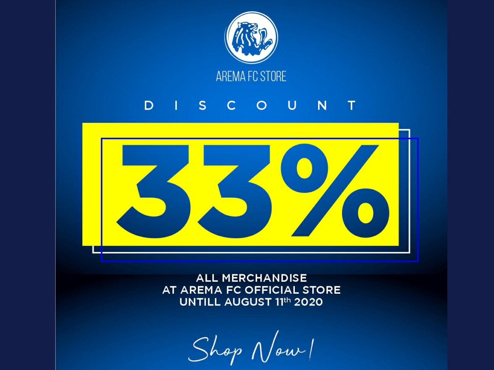 Arema FC Official Store : Pesta Diskon 33% Sambut Ulang ...